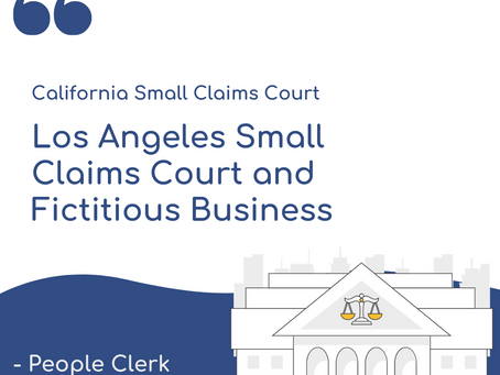 Los Angeles Small Claims Court and Fictitious Business Names