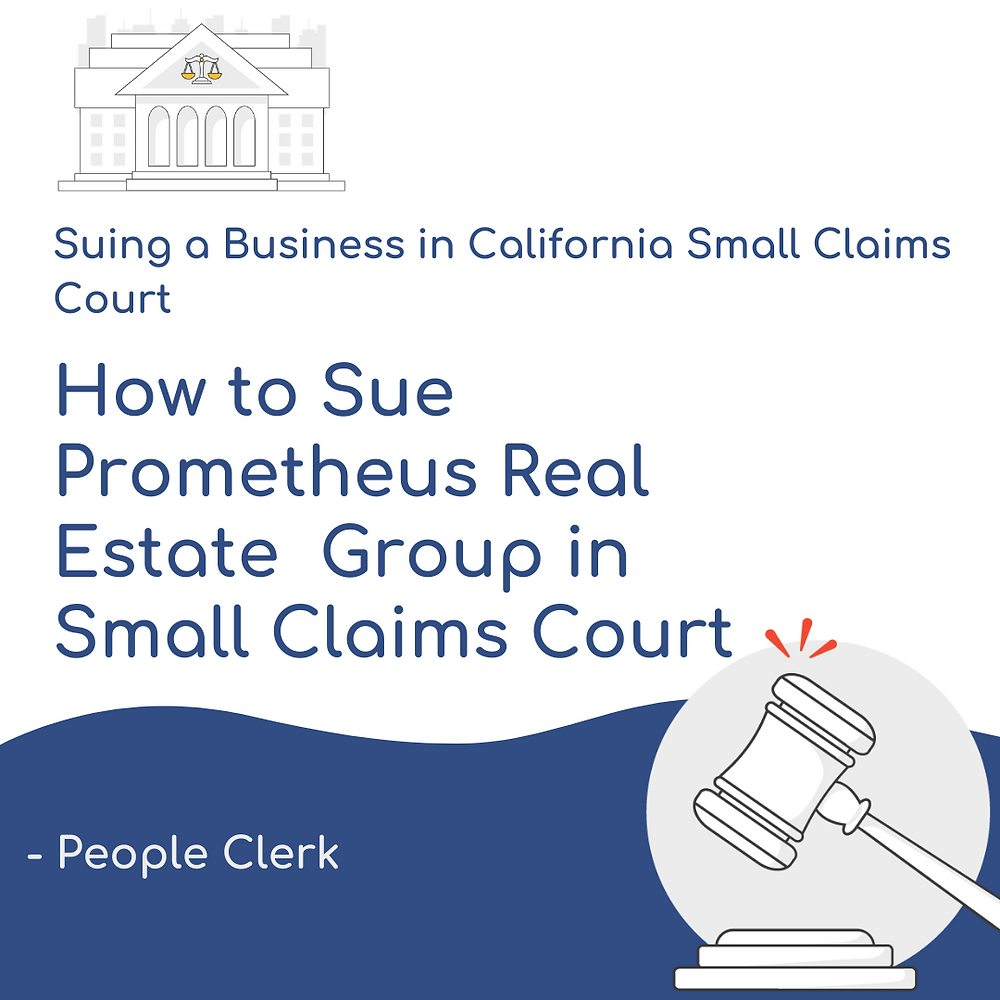 How to Sue Prometheus in California Small Claims Court
