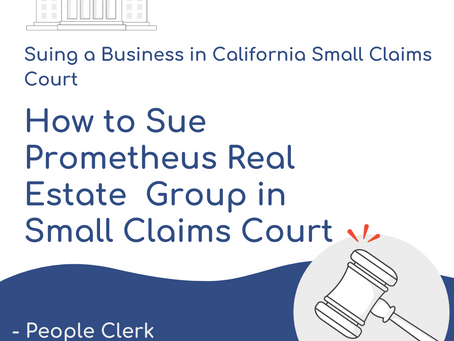 How to Sue Prometheus Real Estate Group in Small Claims Court