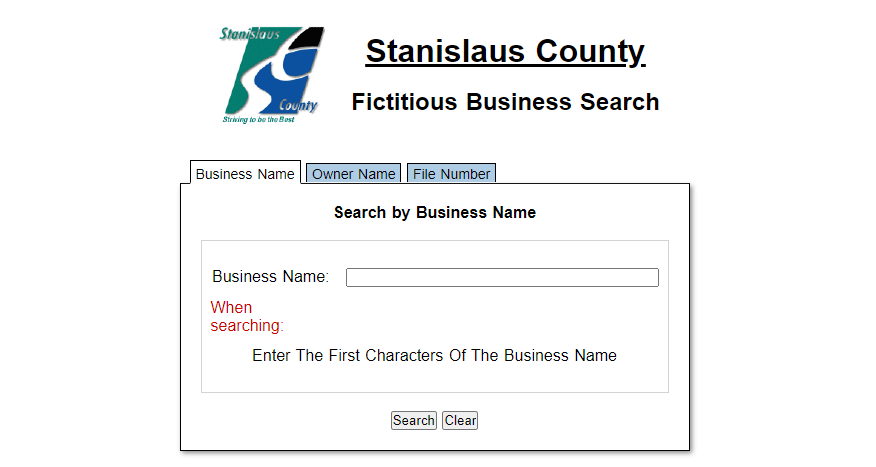 Stanislaus County Fictitious Business Search  small claims court