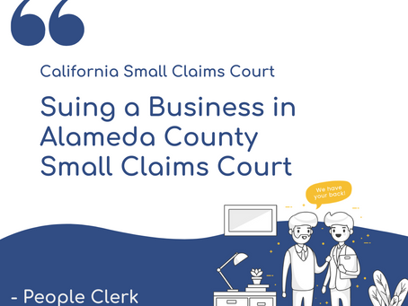How to sue a company in Alameda Small Claims Court