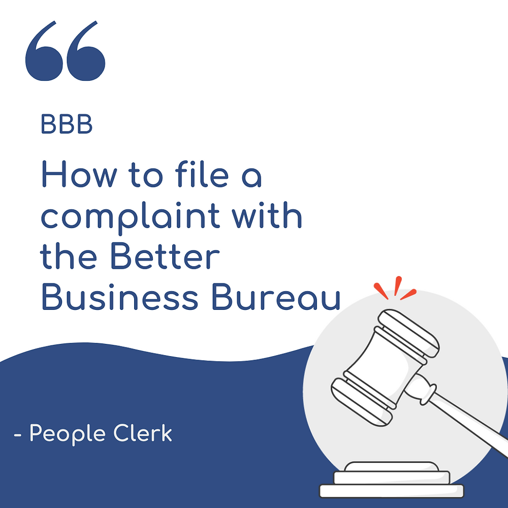 How to file a complaint with the BBB