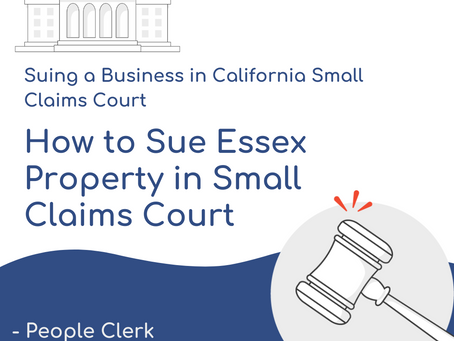 How to Sue Essex Property in Small Claims Court