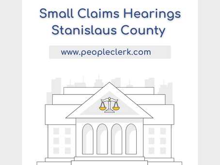 The Small Claims Hearing- Stanislaus County