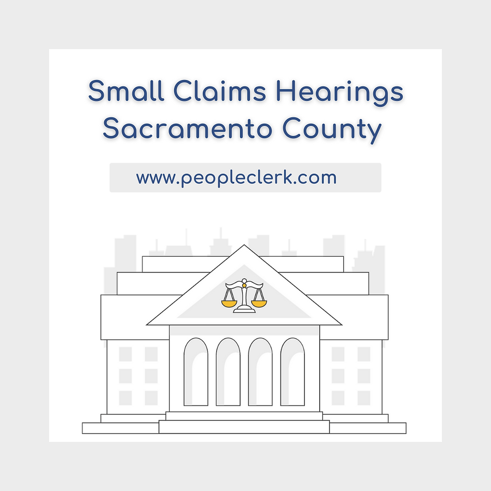 How to prepare for a small claims court hearing in Sacramento county