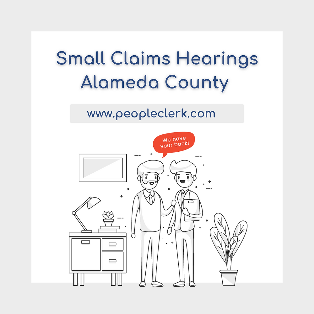 How to prepare for a small claims court hearing in Alameda  county
