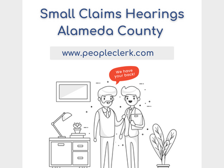 The Small Claims Hearing- Alameda County