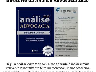 Figueiredo Law Advocacia agora está no Diretório da Análise Advocacia 2020!