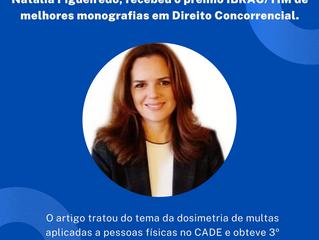 Sócia da Figueiredo Law Advocacia tem artigo premiado na área de Direito Concorrencial