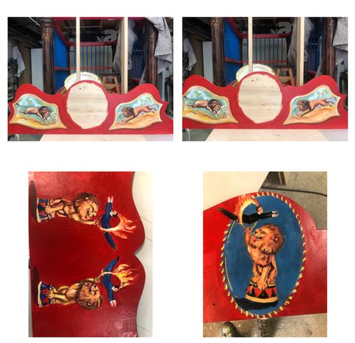 Malereien an der Front und an den Außenseiten