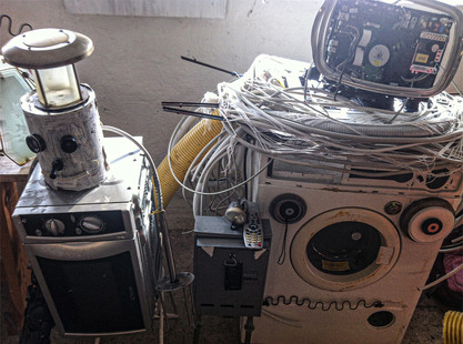 Der Waschmaschinenroboter