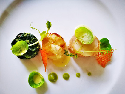 Monkfish & Brandy Flamed Scallop