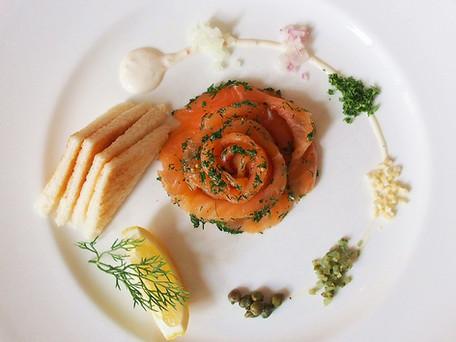 L'éléphant Salmon Gravlax with Horseradish XO Sauce