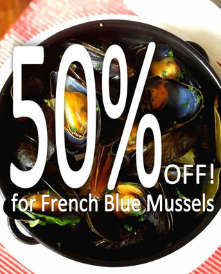 Farewell French Oysters & Mussels with 50% Off!