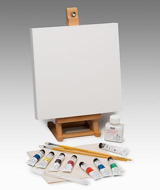 Akrylové barvy a plátno