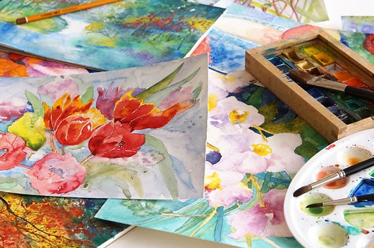 Akvarelové barvy & akvarely