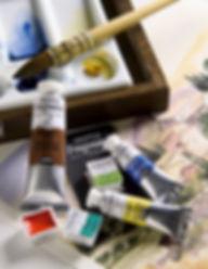 Akvarelové barvy Fragonard v tubách