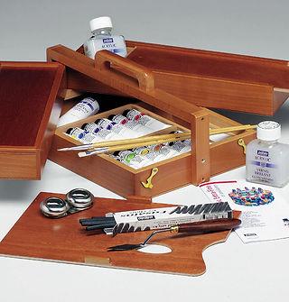 Kufřík akrylových barev s příslušenstvím