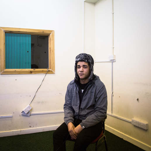 Mickhel, a convert from Manchester, sits in a local masjid in Moss SIde, Manchester during an interview.  At the time, Mikhel was unemployed and was thinking of applying to join a history course at university.