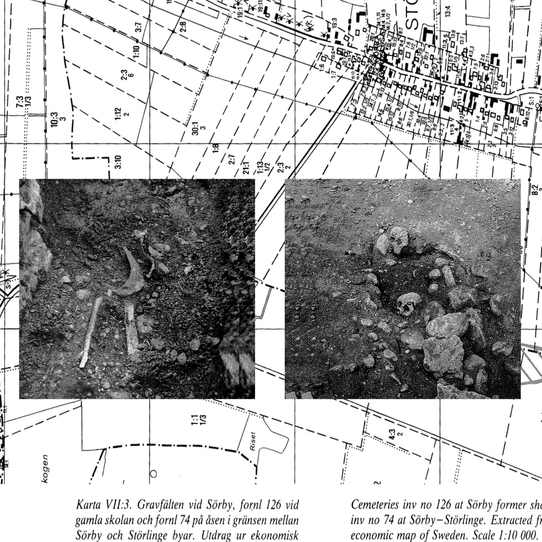 Historical findings in an Iron Age burial ground in Sweden.