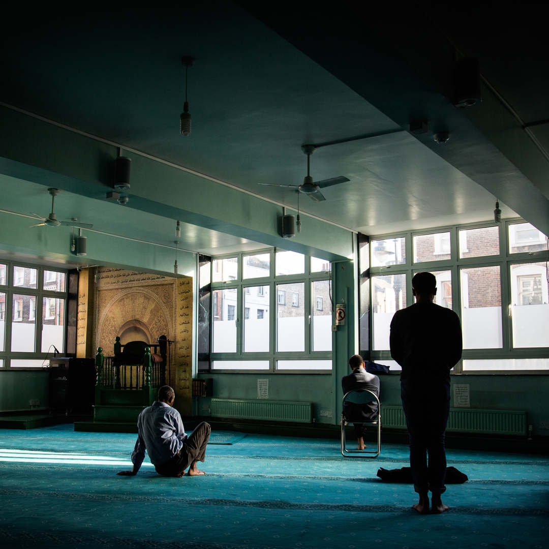 A view of Goodge Street Mosque, London.