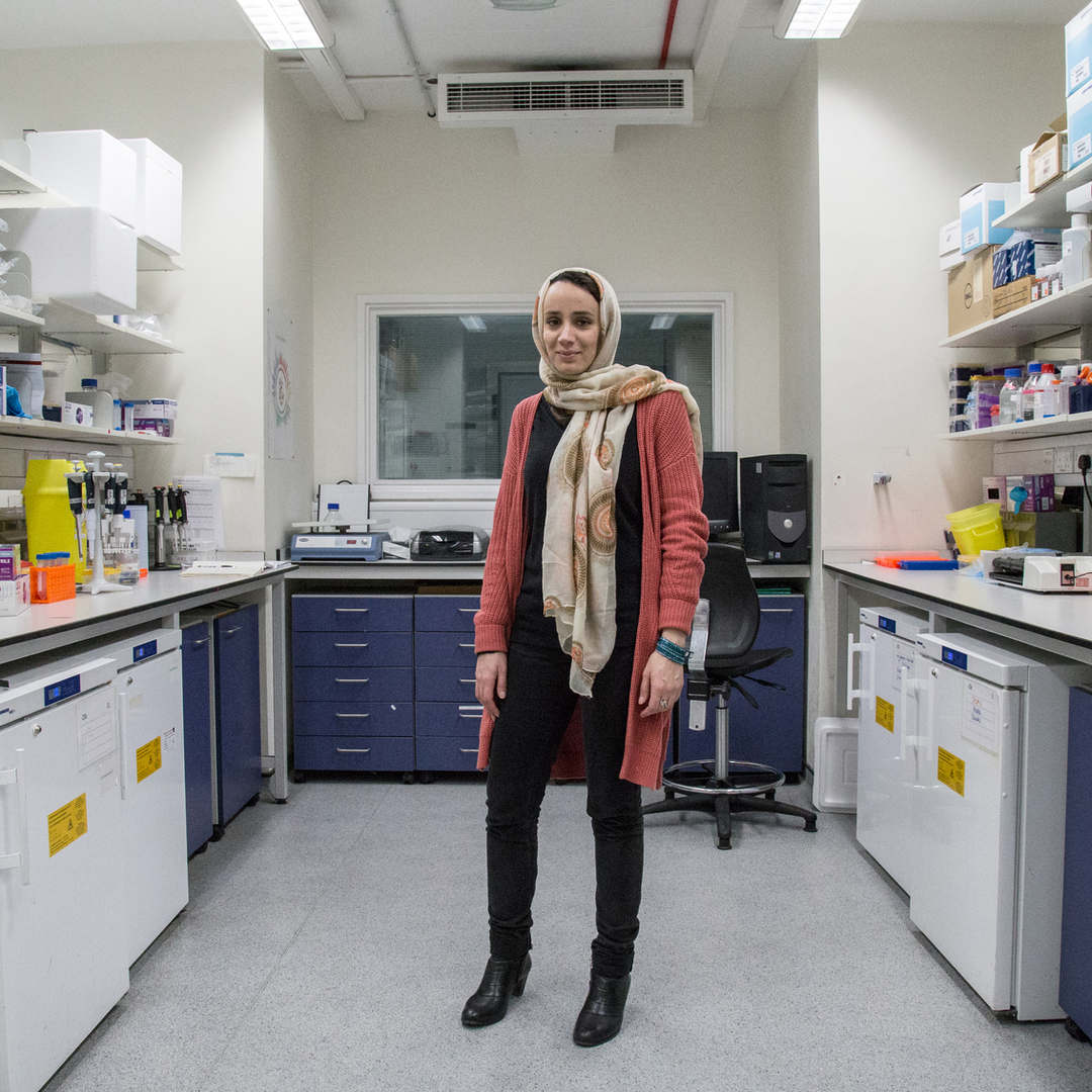 Maryam is a Shia revert - a term that describes people who were born in a Muslim family but step away from Islam only to return to it to a later age.  Maryiam is part of a team researching a cure for Alzheimer Disease.