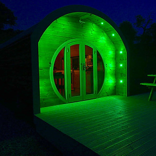The Shire Pod at Night