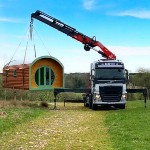 The Shire Pod and The Hiab