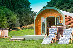 Hidden Wood Glamping - Shire Pod Exterior