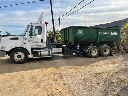 Roll Off Truck, Landscaping Materials, Soils, Mulch, Play-chip, Roll-off service around Escondido, California in San Diego County