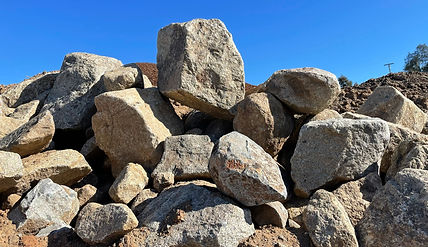 Boulders, Landscaping Materials, Soils, Mulch, Play-chip, Roll-off service around Escondido, California in San Diego County