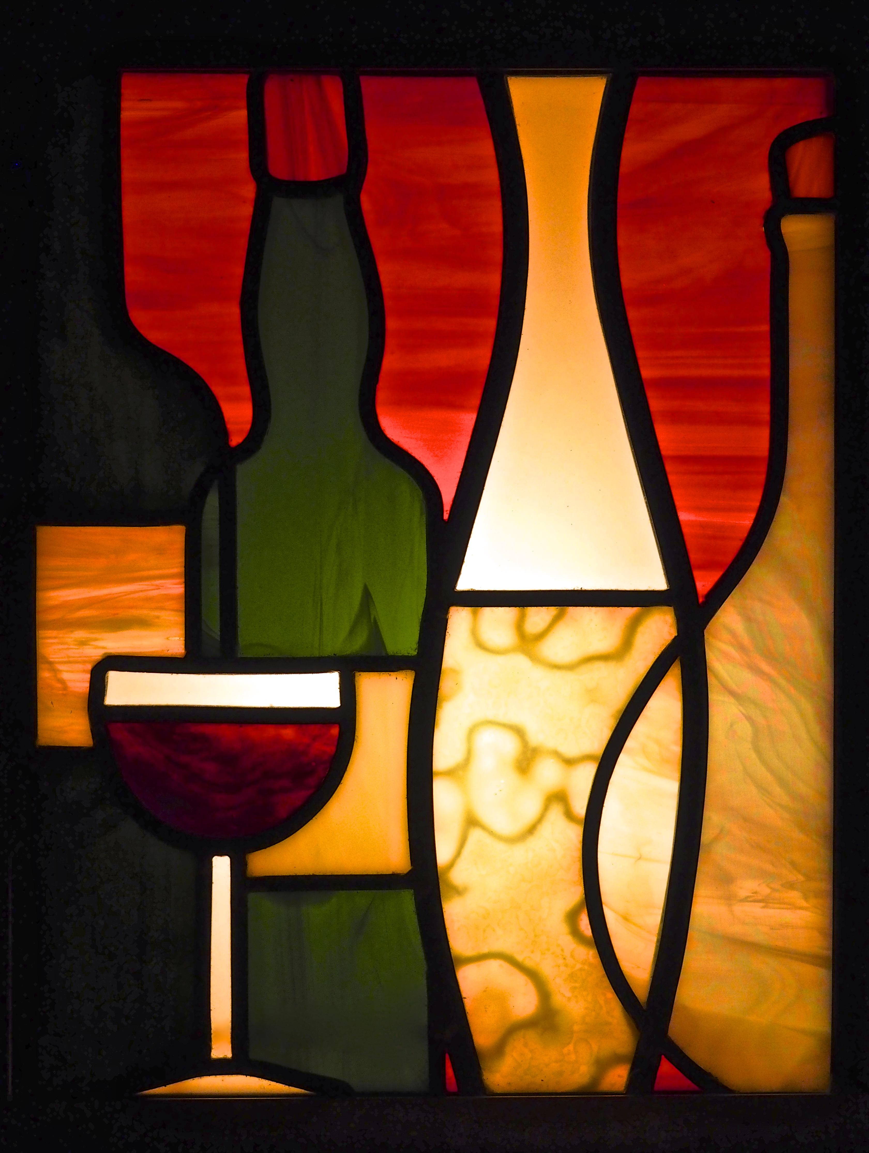 Luminaire caisse de vin