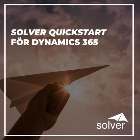 Solver lanserar Solver Quickstart