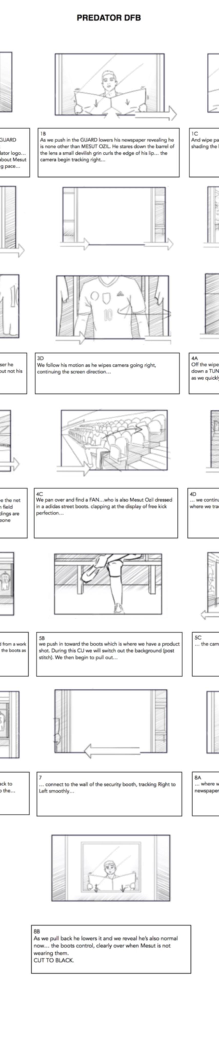 Adidas Predator Ozil Storyboard
