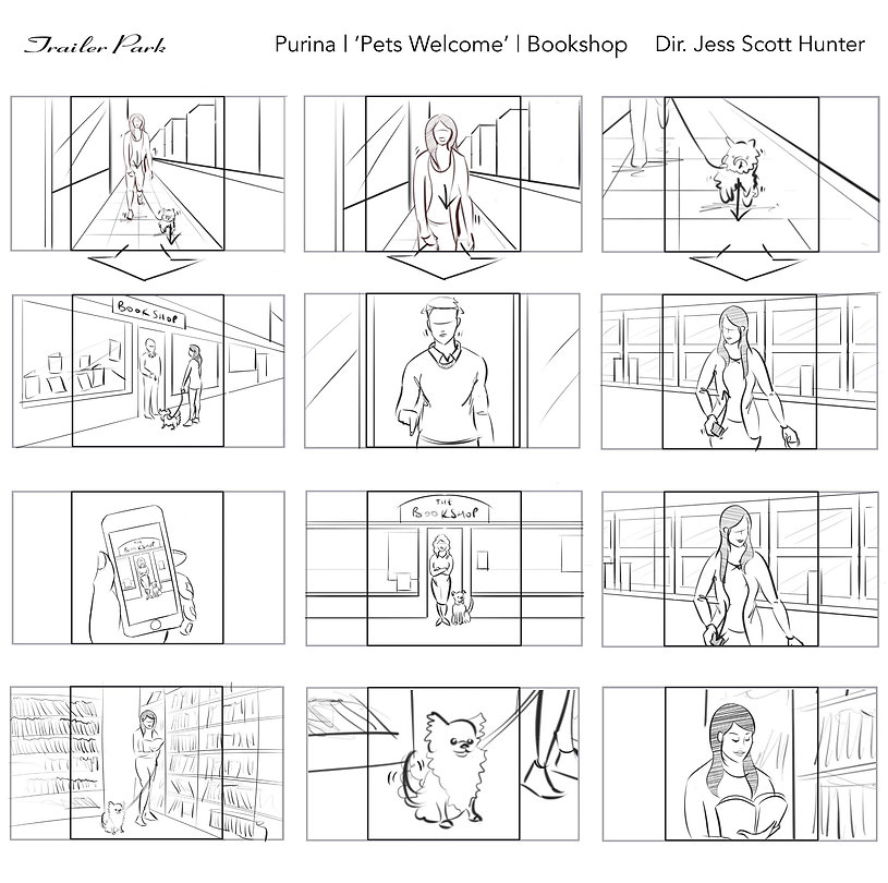 Purina Pets Welcome Bookshop web layout.