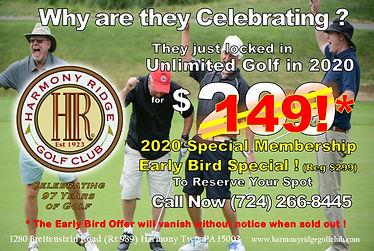 2020 Golf Special $149 Membership Offer
