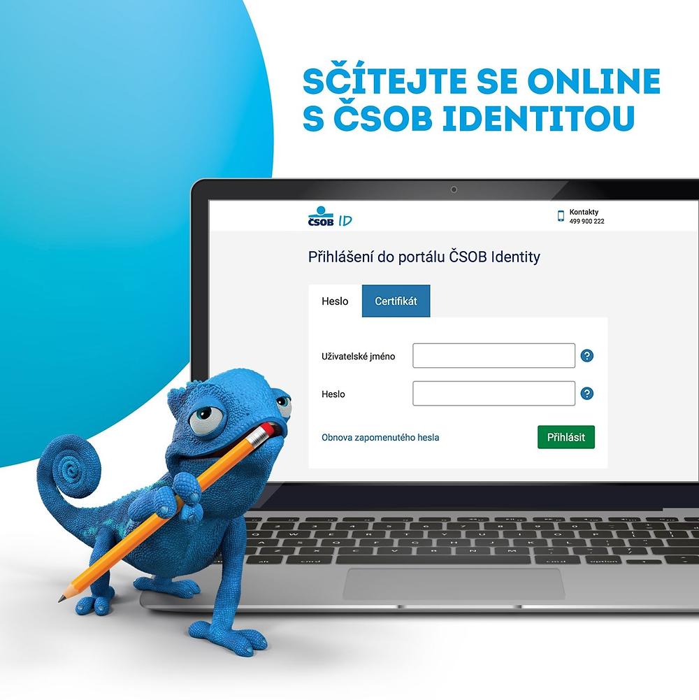 Bankovní identita - sčítání 2021 - ČSOB
