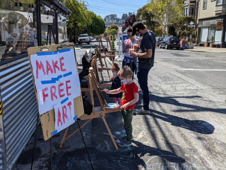 Free Art Day Adds Flair to Sanchez Street