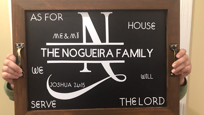 Personalized Serving Trays - As for me and my house we will serve the Lord.