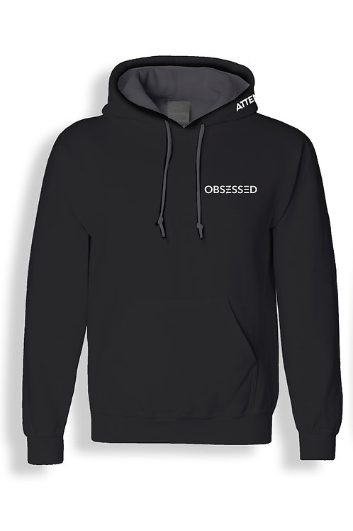 OBSESSED HUB Official Hoodie - Embroidered - Black