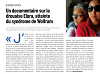 Un documentaire sur la drouaise Elora, atteinte du syndrome de Wolfram