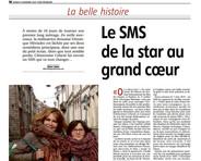 Le SMS de la star au grand coeur 1
