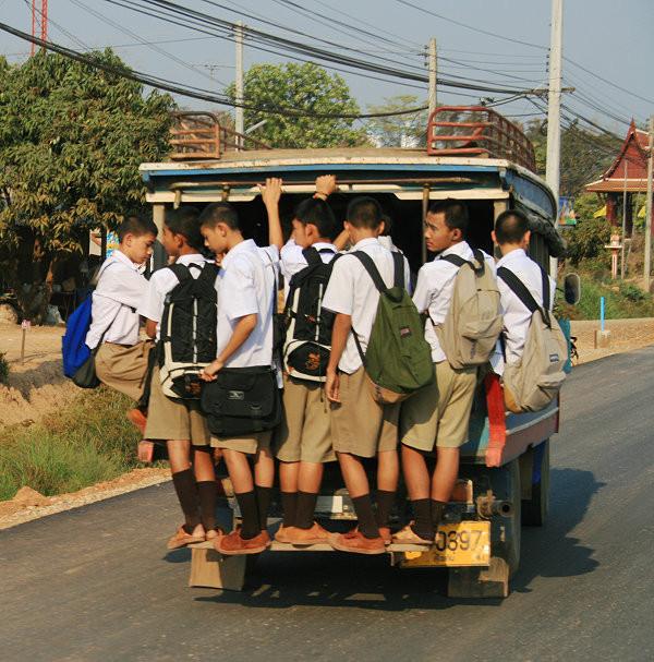 Schultransporte einmal anderst.