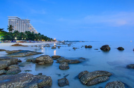 Hua Hin Beach by Night