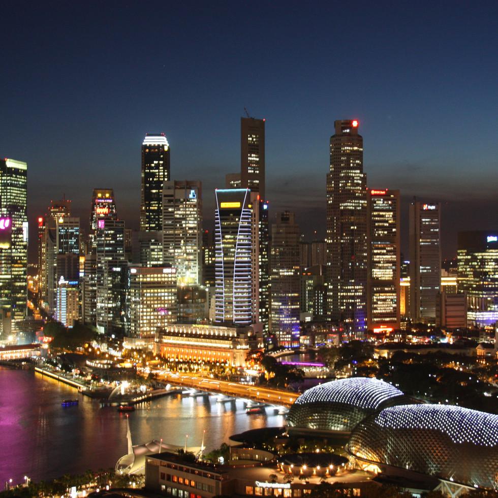 Bangkoks Skyline by Night