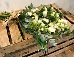 Tied sheaf of seasonal flowers