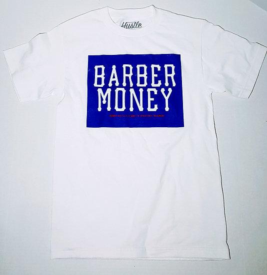 Barber money. Royal blue mens tee