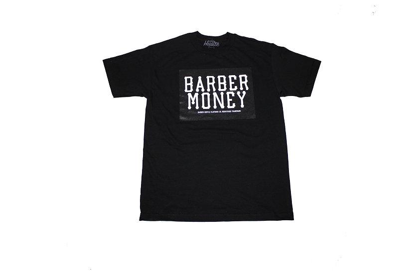Barber Money. mens black tee