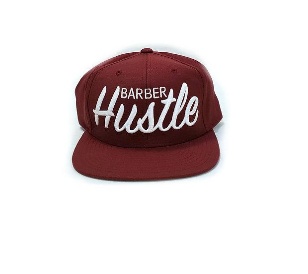 Og barber hustle snapback, color maroon