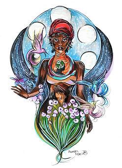 Mawu Moon Goddess